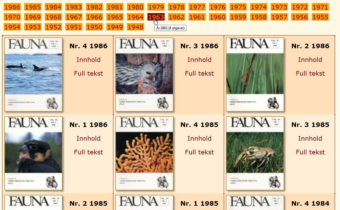 Eldre Fauna